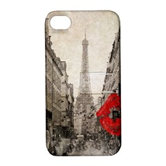 Elegant Red Kiss Love Paris Eiffel Tower Apple iPhone 4/4S Hardshell Case with Stand
