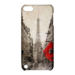 Elegant Red Kiss Love Paris Eiffel Tower Apple iPod Touch 5 Hardshell Case with Stand