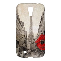 Elegant Red Kiss Love Paris Eiffel Tower Samsung Galaxy S4 I9500/I9505 Hardshell Case