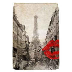 Elegant Red Kiss Love Paris Eiffel Tower Removable Flap Cover (small)
