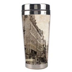 Elegant Red Kiss Love Paris Eiffel Tower Stainless Steel Travel Tumbler