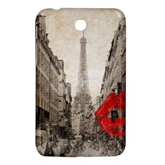 Elegant Red Kiss Love Paris Eiffel Tower Samsung Galaxy Tab 3 (7 ) P3200 Hardshell Case