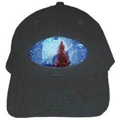 Elegant Winter Snow Flakes Gate Of Victory Paris France Black Baseball Cap