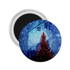 Elegant Winter Snow Flakes Gate Of Victory Paris France 2.25  Button Magnet