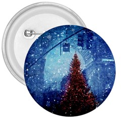 Elegant Winter Snow Flakes Gate Of Victory Paris France 3  Button