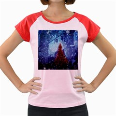 Elegant Winter Snow Flakes Gate Of Victory Paris France Women s Cap Sleeve T-Shirt (Colored)