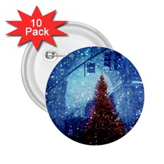 Elegant Winter Snow Flakes Gate Of Victory Paris France 2 25  Button (10 Pack)