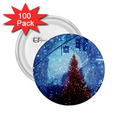 Elegant Winter Snow Flakes Gate Of Victory Paris France 2 25  Button (100 Pack)