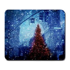 Elegant Winter Snow Flakes Gate Of Victory Paris France Large Mouse Pad (Rectangle)