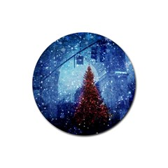 Elegant Winter Snow Flakes Gate Of Victory Paris France Drink Coaster (round)
