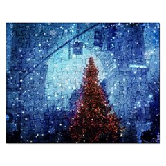 Elegant Winter Snow Flakes Gate Of Victory Paris France Jigsaw Puzzle (Rectangle)