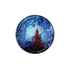 Elegant Winter Snow Flakes Gate Of Victory Paris France Golf Ball Marker 4 Pack (for Hat Clip)
