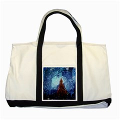 Elegant Winter Snow Flakes Gate Of Victory Paris France Two Toned Tote Bag
