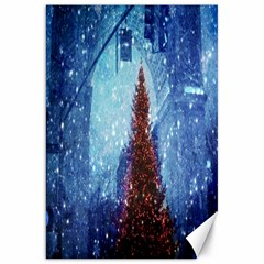 Elegant Winter Snow Flakes Gate Of Victory Paris France Canvas 20  x 30  (Unframed)