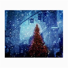 Elegant Winter Snow Flakes Gate Of Victory Paris France Glasses Cloth (small, Two Sided)