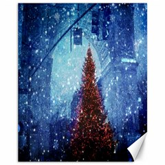 Elegant Winter Snow Flakes Gate Of Victory Paris France Canvas 11  x 14  (Unframed)