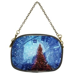 Elegant Winter Snow Flakes Gate Of Victory Paris France Chain Purse (One Side)