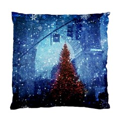 Elegant Winter Snow Flakes Gate Of Victory Paris France Cushion Case (Single Sided)