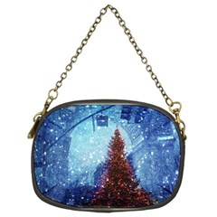 Elegant Winter Snow Flakes Gate Of Victory Paris France Chain Purse (Two Sided)
