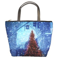 Elegant Winter Snow Flakes Gate Of Victory Paris France Bucket Bag