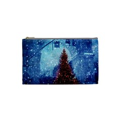 Elegant Winter Snow Flakes Gate Of Victory Paris France Cosmetic Bag (Small)