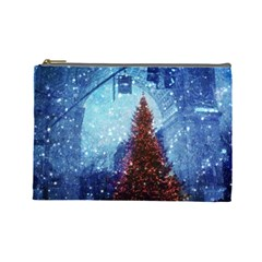 Elegant Winter Snow Flakes Gate Of Victory Paris France Cosmetic Bag (large)