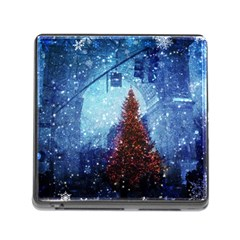 Elegant Winter Snow Flakes Gate Of Victory Paris France Memory Card Reader with Storage (Square)