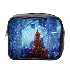 Elegant Winter Snow Flakes Gate Of Victory Paris France Mini Travel Toiletry Bag (Two Sides)