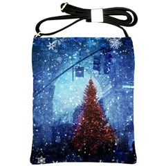 Elegant Winter Snow Flakes Gate Of Victory Paris France Shoulder Sling Bag