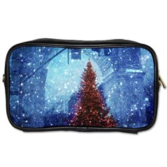 Elegant Winter Snow Flakes Gate Of Victory Paris France Travel Toiletry Bag (Two Sides)