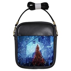 Elegant Winter Snow Flakes Gate Of Victory Paris France Girl s Sling Bag