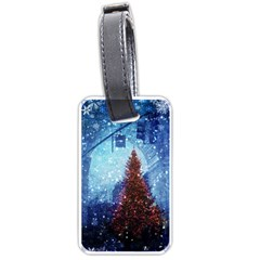 Elegant Winter Snow Flakes Gate Of Victory Paris France Luggage Tag (One Side)