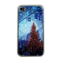 Elegant Winter Snow Flakes Gate Of Victory Paris France Apple Iphone 4 Case (clear)