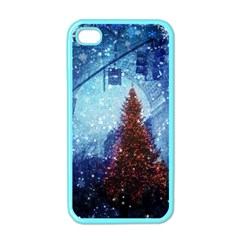 Elegant Winter Snow Flakes Gate Of Victory Paris France Apple Iphone 4 Case (color)