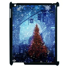 Elegant Winter Snow Flakes Gate Of Victory Paris France Apple Ipad 2 Case (black)