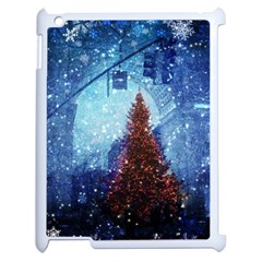 Elegant Winter Snow Flakes Gate Of Victory Paris France Apple Ipad 2 Case (white)