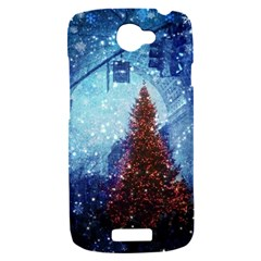 Elegant Winter Snow Flakes Gate Of Victory Paris France HTC One S Hardshell Case