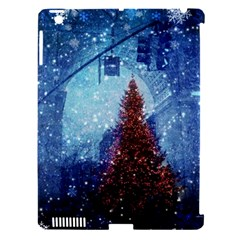 Elegant Winter Snow Flakes Gate Of Victory Paris France Apple iPad 3/4 Hardshell Case (Compatible with Smart Cover)