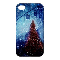 Elegant Winter Snow Flakes Gate Of Victory Paris France Apple iPhone 4/4S Premium Hardshell Case