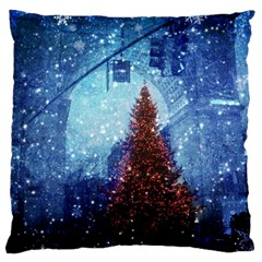 Elegant Winter Snow Flakes Gate Of Victory Paris France Large Cushion Case (Single Sided)