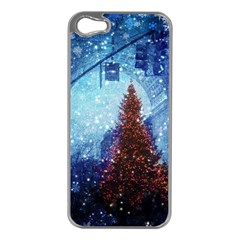 Elegant Winter Snow Flakes Gate Of Victory Paris France Apple iPhone 5 Case (Silver)