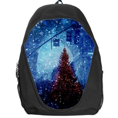 Elegant Winter Snow Flakes Gate Of Victory Paris France Backpack Bag