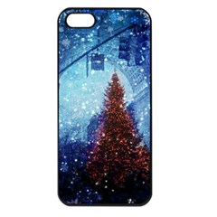 Elegant Winter Snow Flakes Gate Of Victory Paris France Apple Iphone 5 Seamless Case (black)