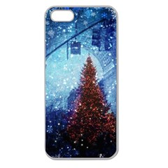 Elegant Winter Snow Flakes Gate Of Victory Paris France Apple Seamless iPhone 5 Case (Clear)