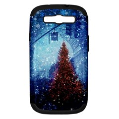 Elegant Winter Snow Flakes Gate Of Victory Paris France Samsung Galaxy S III Hardshell Case (PC+Silicone)