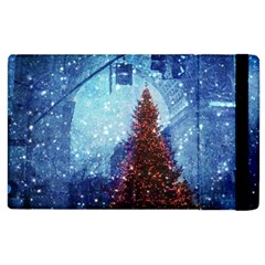 Elegant Winter Snow Flakes Gate Of Victory Paris France Apple iPad 3/4 Flip Case