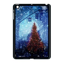 Elegant Winter Snow Flakes Gate Of Victory Paris France Apple Ipad Mini Case (black)