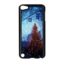 Elegant Winter Snow Flakes Gate Of Victory Paris France Apple iPod Touch 5 Case (Black)