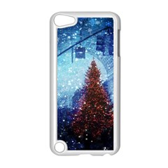 Elegant Winter Snow Flakes Gate Of Victory Paris France Apple iPod Touch 5 Case (White)