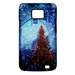 Elegant Winter Snow Flakes Gate Of Victory Paris France Samsung Galaxy S II Hardshell Case (PC+Silicone)